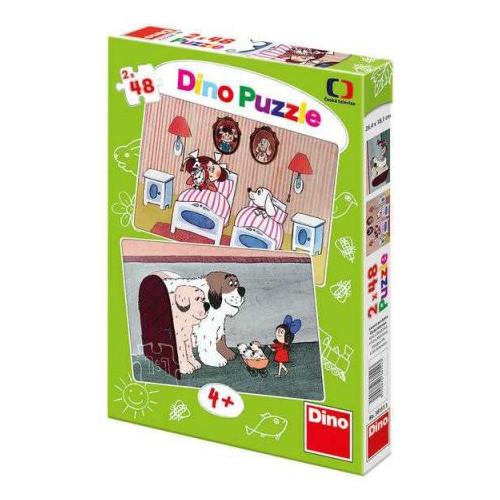 Puzzle Povesti cu Catelusi 2x48 Piese
