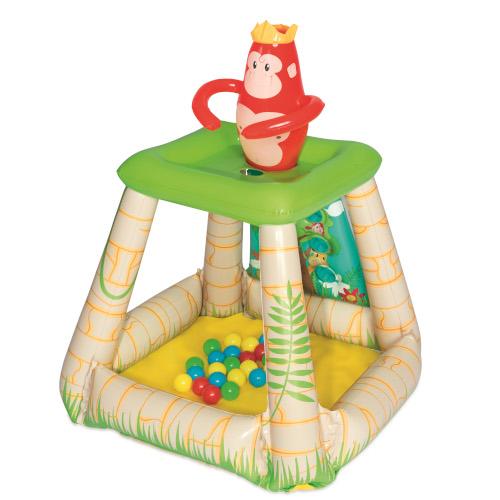 BestWay Centru de Joaca Gonflabil Jungle cu 25 Bile si Parasolar, 89 x 86 cm