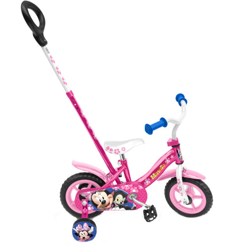 Bicicleta Minnie 10 inch cu Bara de Impins