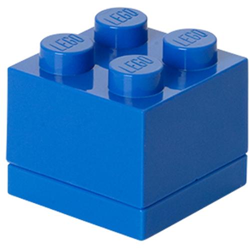 Mini Cutie Depozitare Lego 2 x 2 Albastru Inchis