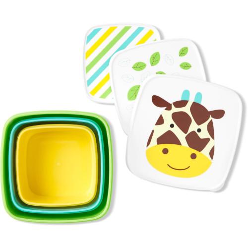 Set 3 Cutii pentru Pranz Zoo Girafa