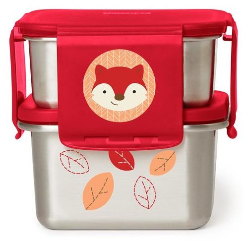 Kit pentru Pranz din Otel Inoxidabil Zoo Vulpe