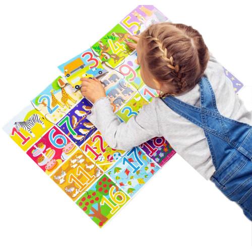 BigJigs Toys Puzzle de Podea cu Numere – 20 Piese