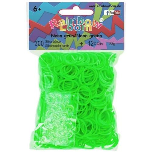 Set 300 Elastice Neon Verde