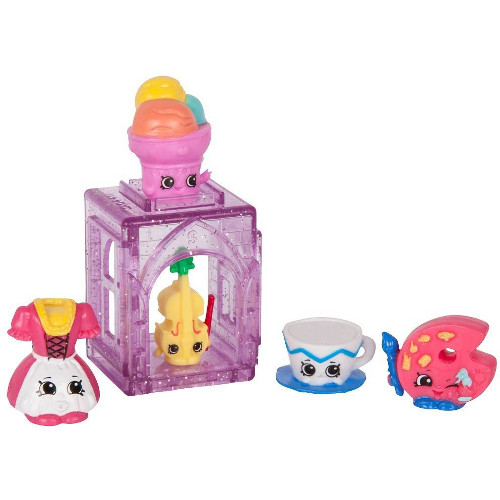 Pachet 5 Figurine Shopkins Happy Places - Colectia Europa Purple