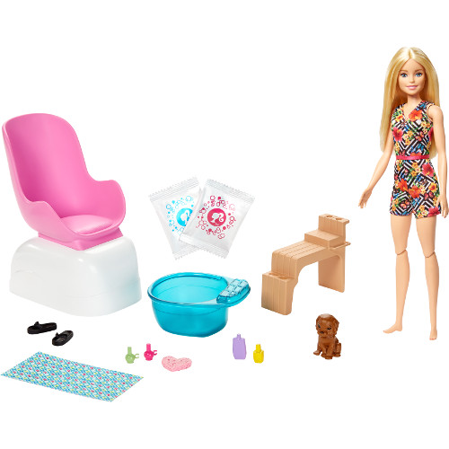 Barbie Set Barbie by Mattel Wellness and Fitness Salonul de Unghii