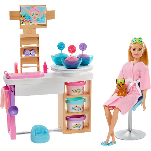 Set Barbie by Mattel Wellness and Fitness Salonul Spa cu Papusa si Accesorii