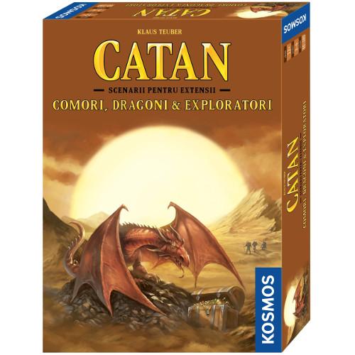 Colonistii din Catan - Comori, Dragoni and Exploratori, Extensie 3-4 Jucatori, 6 Scenarii