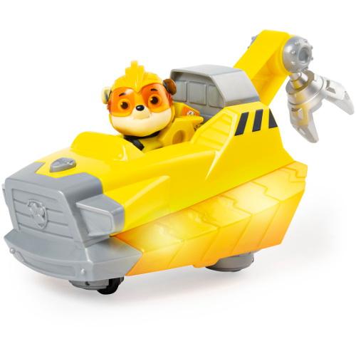 Figurina Rubble cu Vehicul cu Sunete si Lumini Patrula Catelusilor