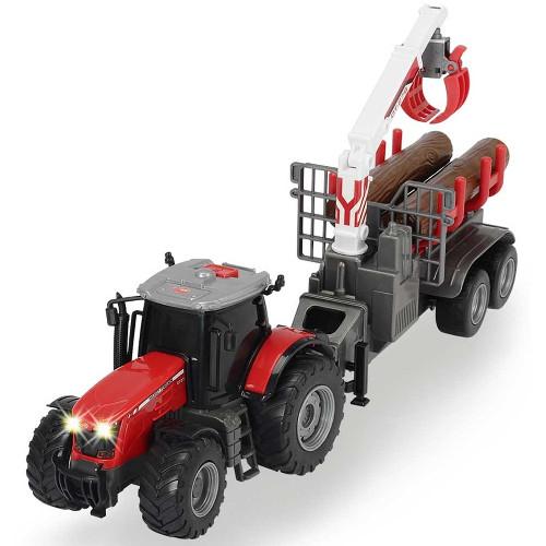 Tractor Massey Ferguson MF 8737 cu Remorca 42 cm