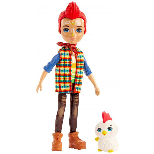 Enchantimals Papusa Enchantimals by Mattel Redward Rooster cu Figurina Cluck