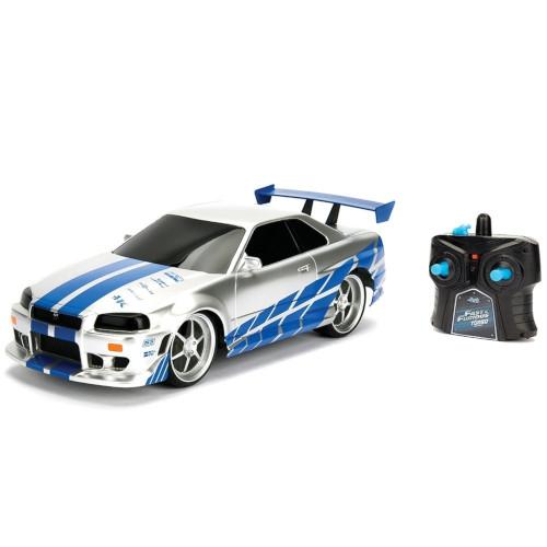 Masina Fast and Furious Nissan Skyline GTR cu Telecomanda 1:24