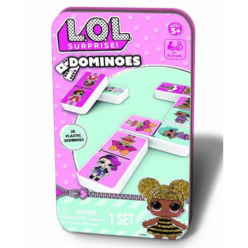 Joc de Societate Domino LOL in Cutie Metalica