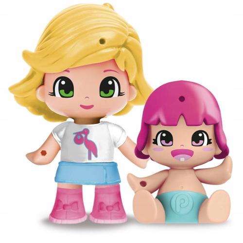 Figurina PinyPon Blonda cu Bebe Surpriza 26247