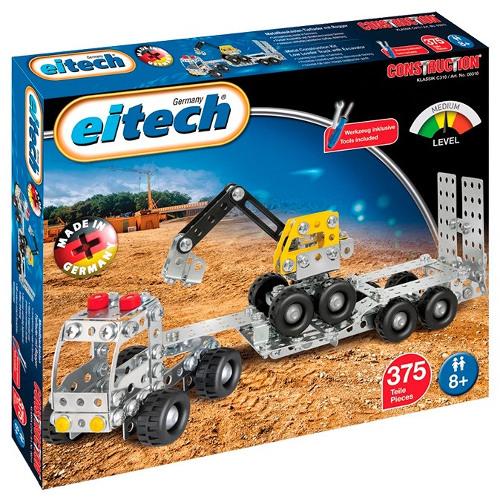 Eitech Set de Constructie Camion cu Remorca si Excavator