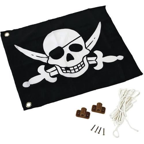KBT Steag Pirati cu Sistem de Ancorare Pentru Spatii de Joaca