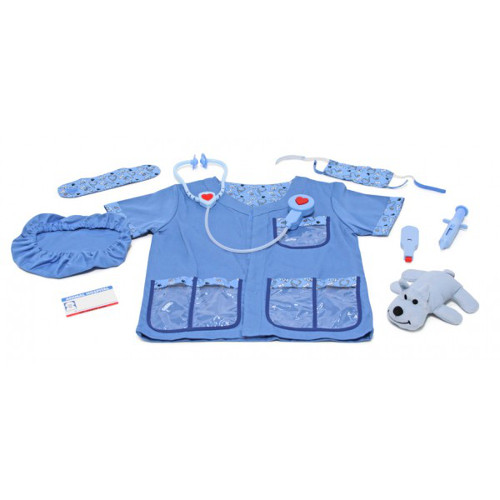 Melissa and Doug Costum Carnaval Copii Medic Veterinar